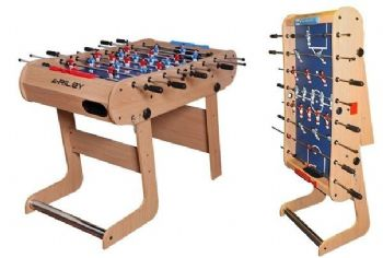 RILEY 4' FOOTBALL SOCCER TABLE FFT13-4LN VERTICAL FOLDING SPACE SAVING FOOSBALL